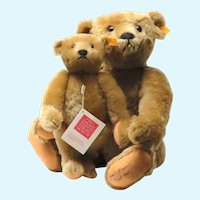 TWO Autographed 1995 by President James Maccario of Steiff  Teddy Bears