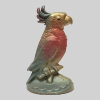 Vintage Parrot Cast Iron Door Stop