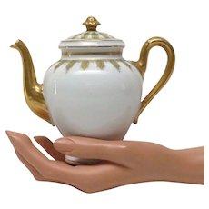 M R Limoges Miniature Tea Pot Fine Porcelain