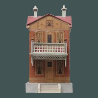 Unusual Unsigned Bliss Dollhouse Has Balcony