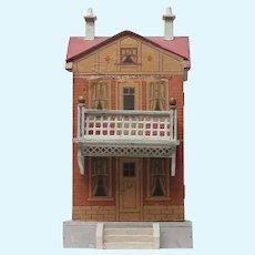 Unusual Unsigned Bliss Dollhouse Has Balcony