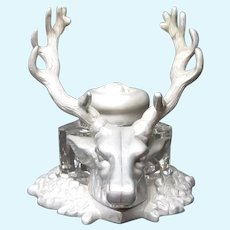 Stag Head Pen Rack Ink Well