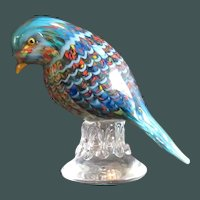 Birds for Tour d'Argent Pulled Feather Murano Glass Sculpture