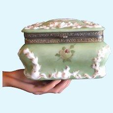 Late 19th Century Rare Color Large Wavecrest Box
