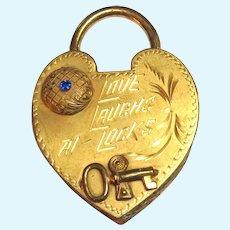 Royal M MFG CO Gilt Heart Jewelry Casket Trinket Box