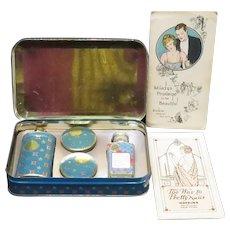 Circa 1920's Flapper Watkins Nail Polish Kit in Box Tin