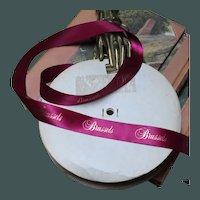 Vintage Luxury Wine Ribbon Gilded Brussels on Original Roll
