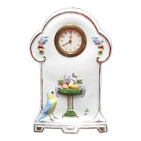 Kienzle Germany Clock Hand Painted Bird with Fruit Compote