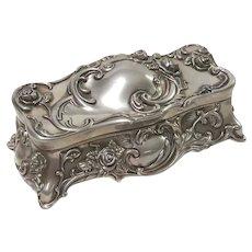 Vintage Wallace Silversmiths Silverplate Jewelry Casket Music Box