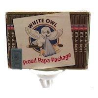 Vintage White Owl Cigar Box It's A Boy Have A Cigar