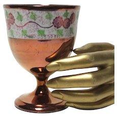 Mulberry vines Copper Lusterware Copper Luster Goblet
