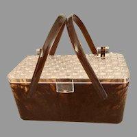Fifties Lucite Plastic Handbag Purse tortoise