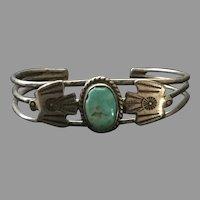 Navajo Phoenix Turquoise Sterling Bracelet