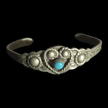 Rare Child's Native Bell Bracelet Nickel Silver