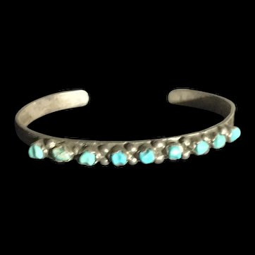 Early Native American Turquoise Nuggets Bracelet Child's