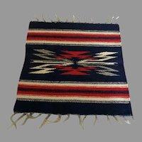 Chimayo Navajo wool Table Top Rug