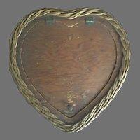 Old Wicker & Wood Basket