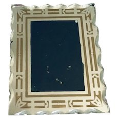Art Deco Beveled Glass Picture Frame