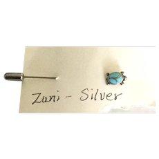 Zuni Turtle Stick Pin