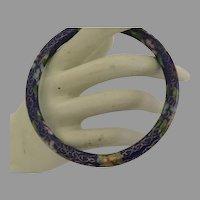 Vintage Chinese Cloisonné Bangle Bracelet
