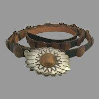 Vintage Copperhead Pennies coin Belt & Buckle 24 pennies