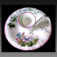 Royal Worcester Enchantment-Fairy Pink Candle Holder Delicate