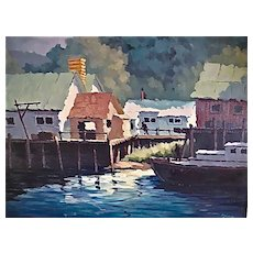 Albert Ennis California listed Artist Oil Painting NoYo Harbor