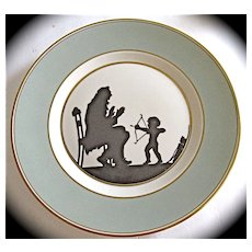 "Rare Royal Copenhagen Silhouette Collector Plate Signed"" Else Hasserlis"" Rare Plate"