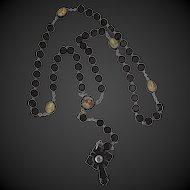 Vintage Rosary Gutta Percha Stanhope Litho Prints Rosary Unusual