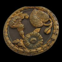 Vintage Aesthetic Victorian Picture  Metal Button