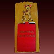 Vintage Retro Shopping List Reminder w/Bambi Kitchen Wood Plaque