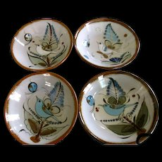 Ken Edwards Mexico El Palomar Birds Butterfly Cereal / Soup Bowls 6 3/4""