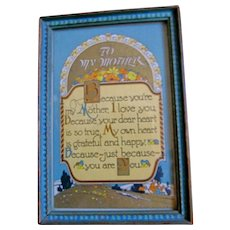 Vintage Mother Motto Original Frame-Mother's Day
