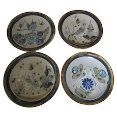 Ken Edwards El Palomar Birds Dinner Plates Set of 4