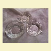 Assorted Decorative Clear Ash Trays