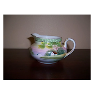 Hand Painted Nippon Creamer, Farmhouse Scene