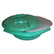 3-PC Vintage Jadeite Green Tupperware Bowl, Slicer / Shredder & Lid
