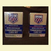 Silver Anniversary Commemorative Card Set - Super Bowl XXV, 2 Boxes