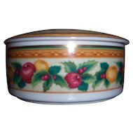 """Mikasa """"Holiday Fruit"""" Covered Round Candy Bowl"""