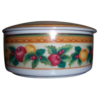 "Mikasa ""Holiday Fruit"" Covered Round Candy Bowl"