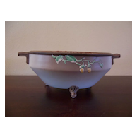 "Nippon ""Maple Leaf"" 7 ¼"" 3-Footed Bowl with Acorns"