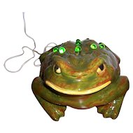 Arnel's Pottery Lighted Ceramic Frog