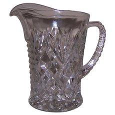 Pressed Glass Cream Pitcher, Fan and Diamond Pattern