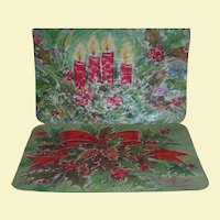 Vinyl Christmas Place Mats, Assorted Designs