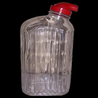 Anchor Hocking Ribbed Glass Refrigerator Water Jug
