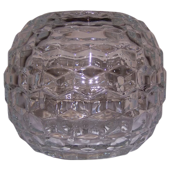 Fostoria Glass American Clear Fairy Candle Lamp