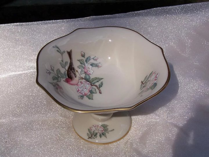 Lenox China Compote Serenade Pattern Sold Ruby Lane