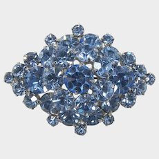 DeLizza and Elster - Juliana All Blue Rhinestone Tiered Brooch