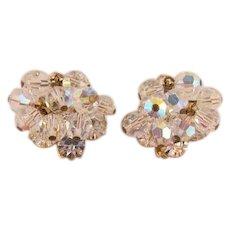 D&E / Juliana Crystal AB and Clear Rhinestone Earrings