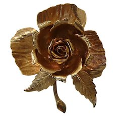 Wonderful Warner Mechanical Flower Brooch